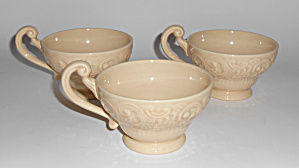 Franciscan Pottery Victoria Old Ivory Set/3 Cups Mint