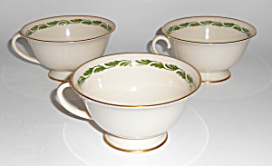 Franciscan Pottery Fine China Arcadia Green Set/3 Cups