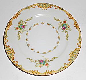 Ko Japan Porcelain China Floral Gold Decorated Bread Pl