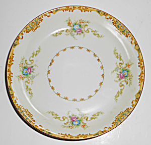 Ko Japan Porcelain China Floral Gold Decorated Soup Bwl