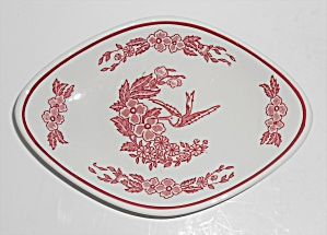 Jackson China Restaurant Ware Red Hummingbird Compote M
