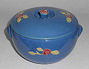 Coors Pottery Rosebud Blue Small Triple Service Cass