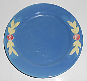 "Coors Pottery Rosebud 7"" Blue Plate Mint"