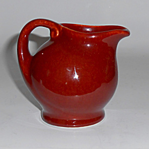 Metlox Pottery Series 200 California Rust Syrup Pitcher
