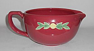 Coors Pottery Rosebud Red Medium Handled Batter Bowl