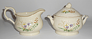 Mikasa Fine China Margaux Creamer/sugar Bowl Set Mint