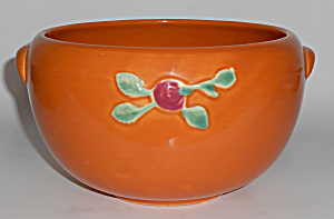 Coors Pottery Rosebud Orange Medium Pudding Bowl