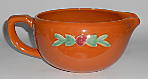 Coors Pottery Rosebud Orange Medium Handled Batter Bowl