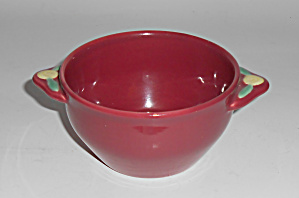 Coors Pottery Rosebud Red Cream Soup Bowl Mint