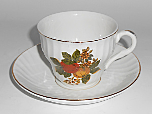Wedgwood Pottery China English Harvest Cup/saucer Set