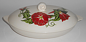 Santa Anita Ware Pottery Scarlet Morning Glory Covered  (Image1)