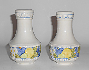 Metlox Pottery Vernon Ware Florence Salt/pepper Shakers