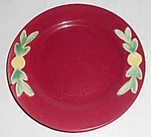 Coors Pottery Rosebud 6in Red Plate Mint