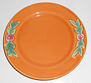 "Coors Pottery Rosebud 7"" Orange Plate Mint"