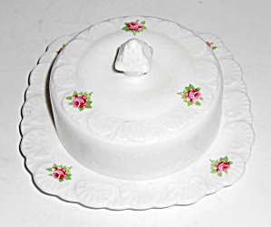 Royal Stafford China Roses Small Covered Butter Mint