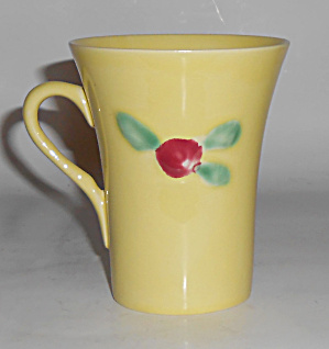 Coors Pottery Rosebud Very Rare Yellow Handled Tumbler
