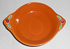 Coors Pottery Rosebud Orange Fruit Bowl Mint