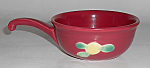 Coors Pottery Rosebud Red Handled Ramekin Mint