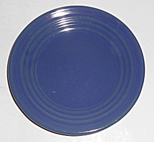 Bauer Pottery Ring Ware Cobalt Bread Plate