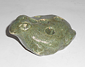 Bauer Art Pottery Early Green Duck Flower Frog (Image1)