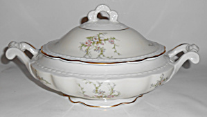 Arcadian Fine China Old Rose Covered Vegetable Bowl