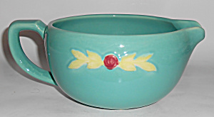 Coors Pottery Rosebud Green Medium Handled Batter Bowl