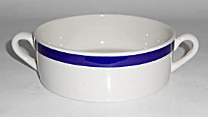 Syracuse China American Airlines Cobalt Band Soup Bowl