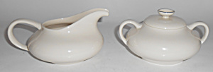 Franciscan Pottery Fine China Platinum Creamer & Sugar
