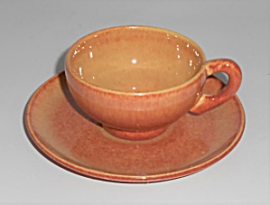 Franciscan Pottery El Patio Golden Glow Demi Cup/saucer