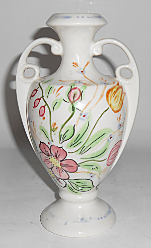Blue Ridge Pottery China Floral Decorated 2-handle Vase