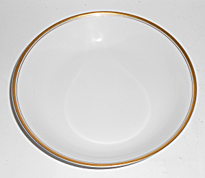 H & C Heinrich Bavaria Porcelain Gold Band Soup Bowl