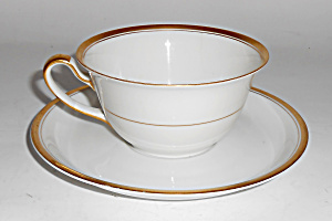 Krautheim Porcelain China Bavaria Gold Band Cup/saucer