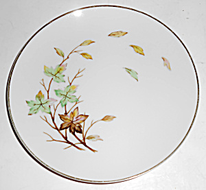 Halsey China Porcelain Swirling Leaves Bread Plate