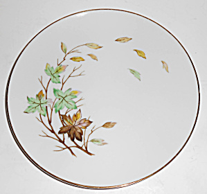 Halsey China Porcelain Swirling Leaves Salad Plate