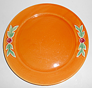 Coors Pottery Rosebud 9in Orange Plate
