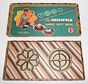 Griwold Cast Iron Patty Molds W/box