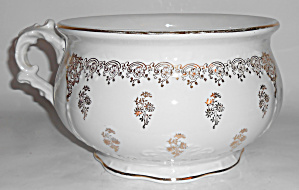 Vintage Homer Laughlin Gold Decorated Chamber Pot