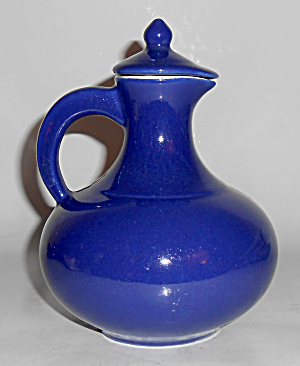 Red Wing Pottery Cobalt Mini Carafe