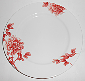 Royal Worcester Porcelain China Red Peony Dinner Plate