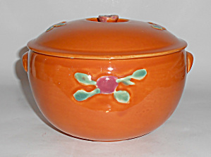 Coors Pottery Rosebud Orange Medium Triple Service Cass