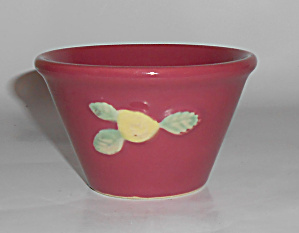 Coors Pottery Rosebud Red Custard Cup
