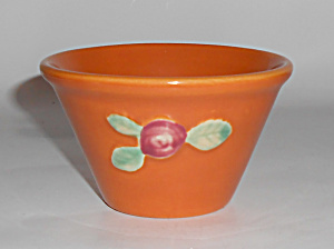 Coors Pottery Rosebud Orange Custard Cup Buy-it-now