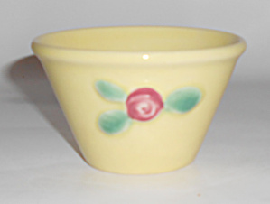 Coors Pottery Rosebud Yellow Custard Cup Buy-it-now