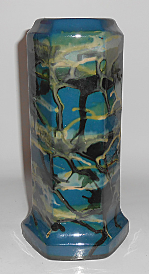 Peters And Reed Pottery 9in Marbleized #56 Vase