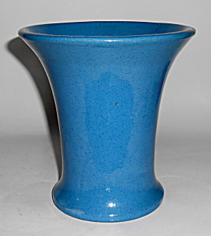 "Peters And Reed Pottery 6.5"" Blue Wilse #47 Vase"