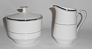 Mikasa Bone China Platinum Band Briarcliffe Creamer/sug
