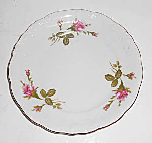 Wawel China Porcelain Roses W/gold Band Bread Plate