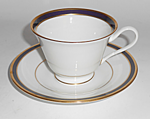 Lenox China Oxford Annapolis Blue Cup/saucer Set