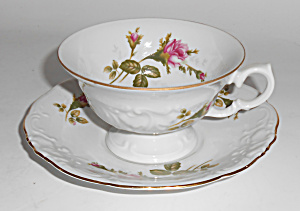Wawel China Porcelain Roses W/gold Band Cup/saucer Set