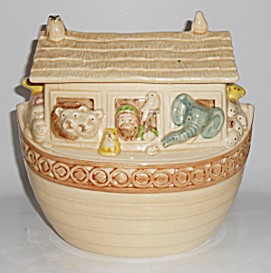 Metlox Pottery Poppy Trail Noah's Ark Cookie Jar